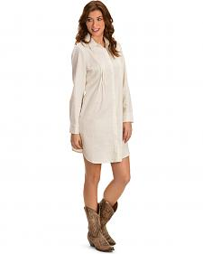 Cowgirl Justice Women's Savannah Linen Shirt Dress