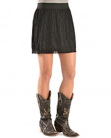 Cowgirl Justice Women's Black Lace Skirt