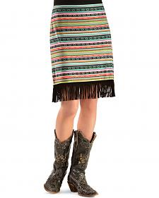 Cowgirl Justice Women's Multi-Color India Fringe Skirt