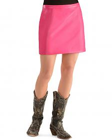 Cowgirl Justice Women's Korey Pink Faux Leather Skirt