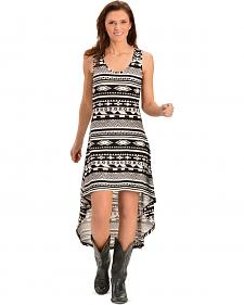 Cowgirl Justice Lizzy Aztec Print High-Low Tank Dress