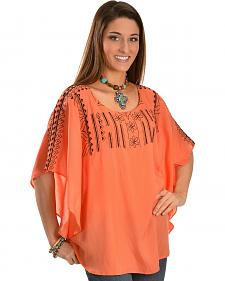 R Cinco Ranch Women's Olivia Embroidered Tunic