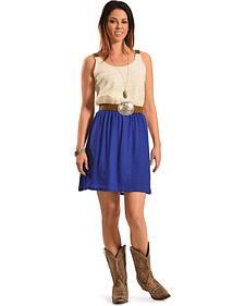 Wrangler Women's Crochet & Linen Dress