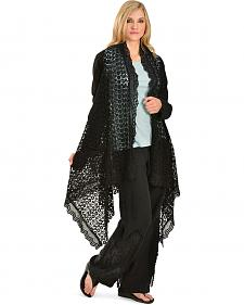 Johnny Was Women's Black Crocheted Stella Jacket