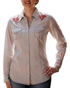Ryan Michael Women's Railroad Stripe Western Shirt