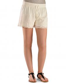Black Swan White Queen's Lace Shorts