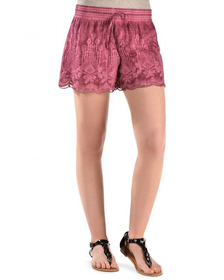 Black Swan Pink Queen's Lace Shorts