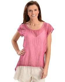 Black Swan Women's Pink Long Island Top