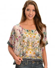 Johnny Was Women's Silk Anthen Top