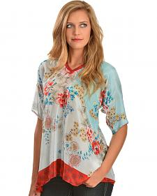 Johnny Was Women's Poe Printed Silk Top