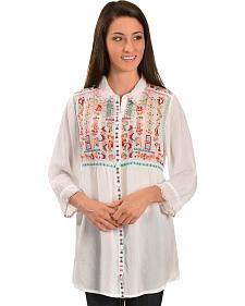 Johnny Was Women's Phaloola Embroidered Tunic