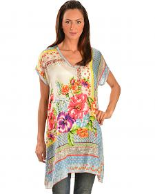 Johnny Was Women's Silk Modisch Tunic
