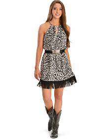 Cowgirl Justice Cheetah Print Fringe Sundress