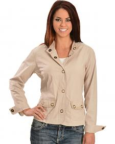 Tantrums Women's Crochet Snap Cotton Jacket