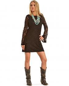 Cowgirl Justice Women's Black Lace Dress