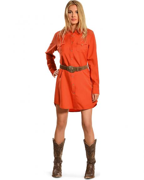 Cowgirl Justice Women's Cinnamon Shirt Dress