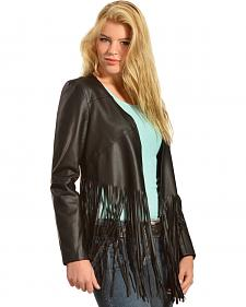 Cowgirl Justice Women's Hell on Wheels Black Fringe Jacket