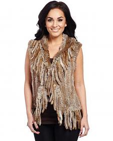 Cripple Creek Women's Faux Rabbit Fur Vest
