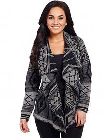 Cripple Creek Women's Southwest Open Front Blanket Wrap Cardigan
