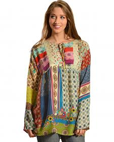 Johnny Was Women's Brightwood Neck Tie Top