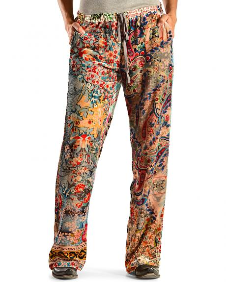 Johnny Was Women's Floral Collage Pants