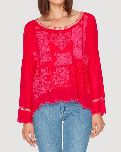 Johnny Was Women's Puzzle Scallop Top