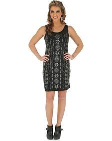 Wrangler Rock 47 Women's Sleeveless Black Dress with Studs