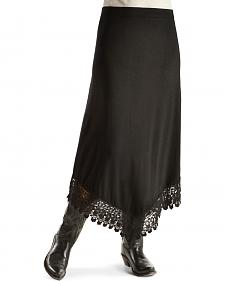 Red Ranch Women's Black Crochet Maxi Skirt