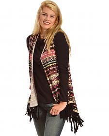 R Cinco Ranch Women's Allie Aztec Draped Fringe Vest