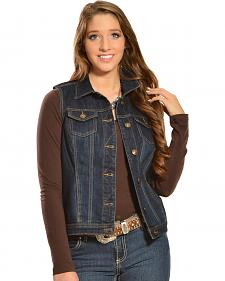 Red Ranch Women's Denim Vest