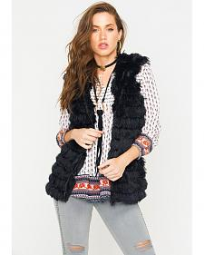 R Cinco Ranch Women's Furry Hooded Vest