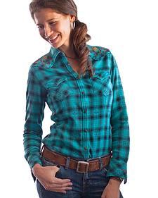 Ryan Michael Women's Lizzie Plaid Shirt