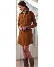 Ryan Michael Cassidy Suede Dress