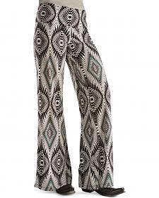 Wrangler Rock 47 Women's Black & White Palazzo Pants