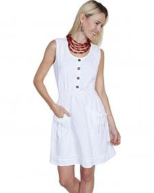 Scully Cantina Collection Sleeveless Cotton Button Front Dress