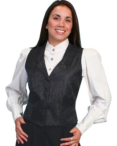 Scully Rangewear Delicate Paisley Vest $50.00 AT vintagedancer.com