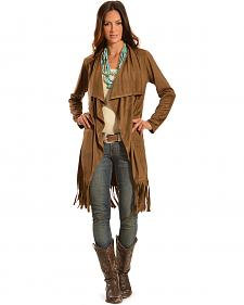 Cowgirl Justice Women's Faux Suede Fringe Duster
