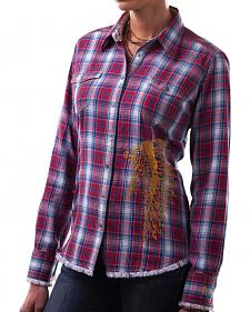Barn Fly Women's Headdress Flannel Plaid Shirt