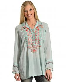 Johnny Was Women's Embroidered Blush Catra Tunic