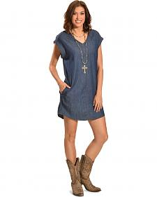 Boho Jane Women's Denim Moon Dress