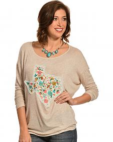 Boho Jane Women's Paisley Texas Patch Top