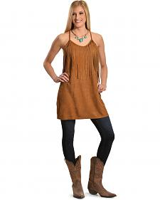 Boho Jane Women's Emmy Lou Fringe Sleeveless Tunic