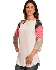Boho Jane Women's Ziggy Baseball Tee
