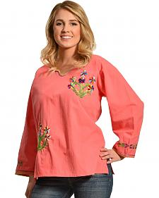 Boho Jane Pink Pansy Top