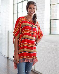 Ryan Michael Women's Serape Poncho