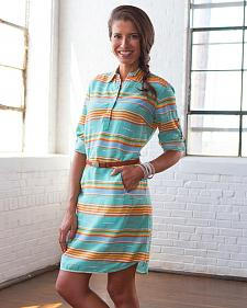 Ryan Michael Women's Serape Stripe Dress