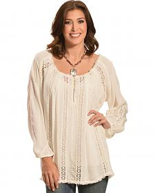 R Cinco Ranch Women's Layla Peasant Top