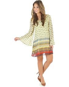 Wrangler Rock 47 Women's Bell Sleeve Print Dress