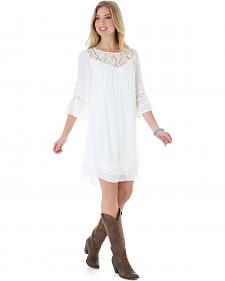 Wrangler Women's Flutter Sleeve Peasant Dress