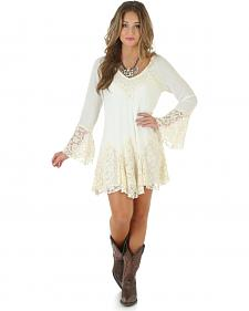Wrangler Women's Long Sleeve Lace Dress